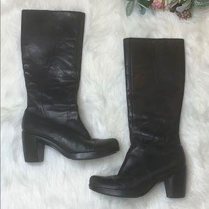 Dansko Black Tall Zip up boot